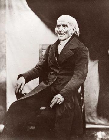 Daguerreotypie von Samuel Hahnemann, aufgenommen am 30. September 1841 in Paris
